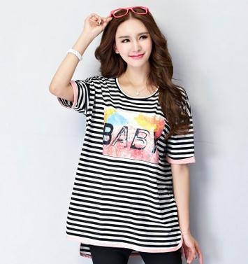 Korean summer maternity clothes loose large size BABY pregnant women T-shirt casual fashion short sleeve maternity tops sz6402