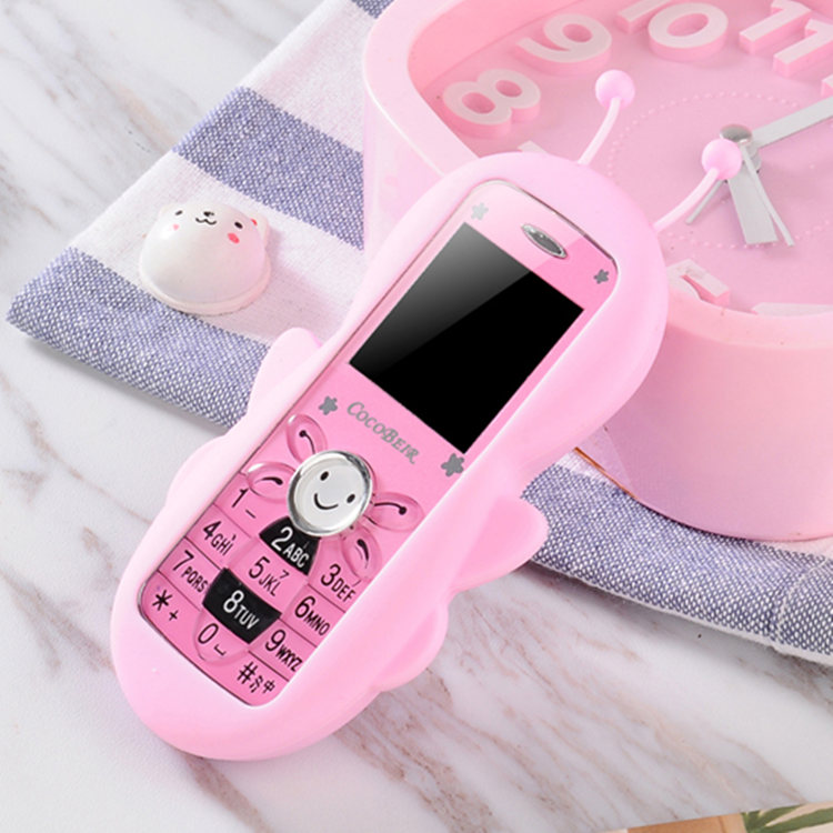 Mini Cute Cell Phone Bar Phone Lovely Cartoon Pocket Mobile Phone Camera Memory Card Slot  Bluetooth Student Child