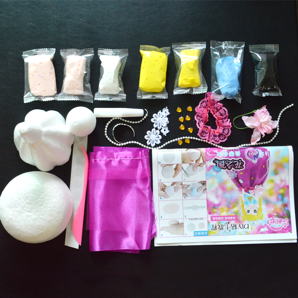Fluffy Slime Soft Clay Slime Supplies DIY Western Style Princess Doll With Colorful Clay And Dress Education Materials DOLLRYGA