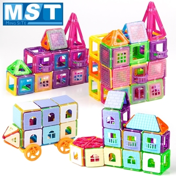 240PCS Mini Magnetic Blocks Educational Toys Building Block Plastic Magnetic Construction Set Child Games Magnetized Toys
