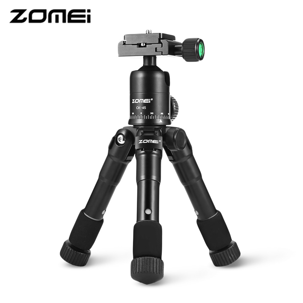 Zomei CK-45 Tripod For Camera Portable Mini Tripod Aluminum With 5 Sections Quick Release Plate For SLR DSLR Camera Smartphones