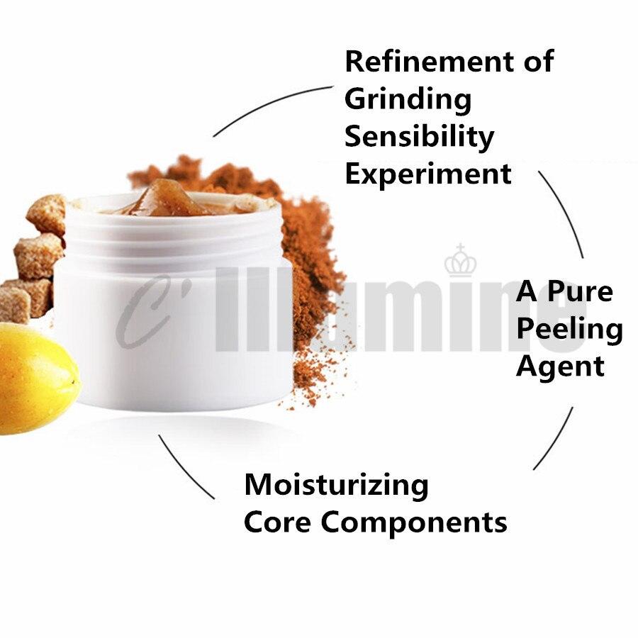Facial Body Scrub Cream Brown Sugar Papaya Body Exfoliation Chicken Skin Removal Follicular OEM 1000g - 4