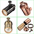 Vintage Pendant Light Holder With Switch Bronze/Gold/Silver/Black Holder AC 90-260V E27 for Pendant Lamp Wire Lighting
