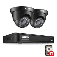 ZOSI 1080P TVI 8 Channel DVR with 720P Nightvision Dome Waterproof Camera CCTV DVR Kit HDD