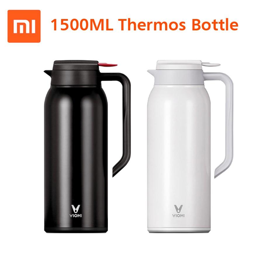 Date D'origine xiaomi Mijia VIOMI Thermo Tasse 1.5L acier inoxydable bouteille isotherme Tasse Thermo 24 h Garder Au Chaud Pour xiaomi smart home