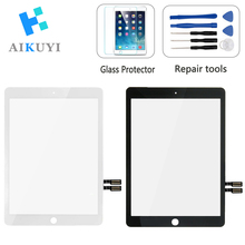 AIKUYI for iPad 9.7 2018 Version Touch Screen Digitizer for Ipad 6 6th Gen 2018 (A1893, A1954) Front Outer Panel Glass +Tools for ipad 9 7 2018 version for ipad 6 6th gen a1893 a1954 touch screen digitizer front outer panel glass with 2gifts