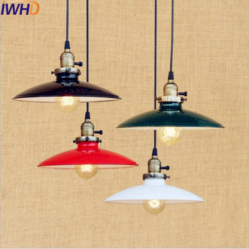 IWHD Nordic Lampen Vintage Pendant Lights Fixtures Retro Edison Style Loft Industrial Lamp Lighting Lamparas Colgantes stars shaped edison nordic vintage pendant lamps lights fixtures children room loft style industrial lighting colorful heads