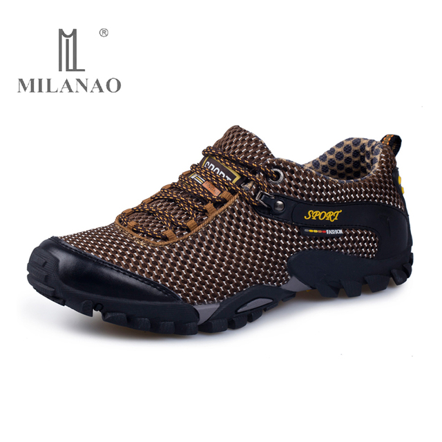 MILANAO High Quality Hiking Shoes for Man New Autumn Outdoor Sport Shoes Men Mesh Hiking Shoes Trekking zapatillas hombre