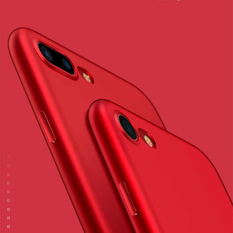 のためのiphone xケースiphone 5 sカバーシリコン高級黒赤ソフトマット電話バックケース用iphone 6ケースかわいい6 sプラスシリコーン