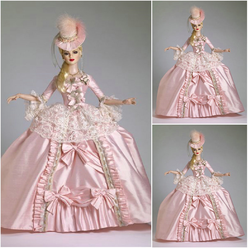 2017 New Customer Made Luxs Pink Victorian Dresses 1860s