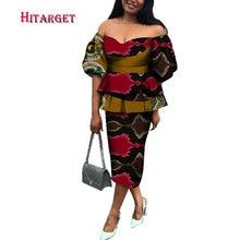 autumn african skirt suits Dashiki for women elegant lady set femme Bazin Riche cotton plus size two pieces WY191