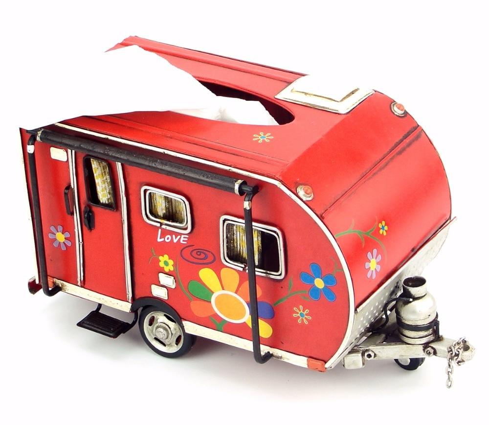 Винтаж гладить искусства украшения дома Кемпинг автомобильный прицеп бумаги коробки поле бумажных полотенец ремесленных