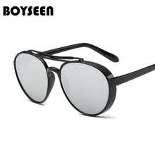 77516010cd98 BOYSEEN Cat Eye Sunglasses Women Classic Brand Designer Female Coating  Mirror