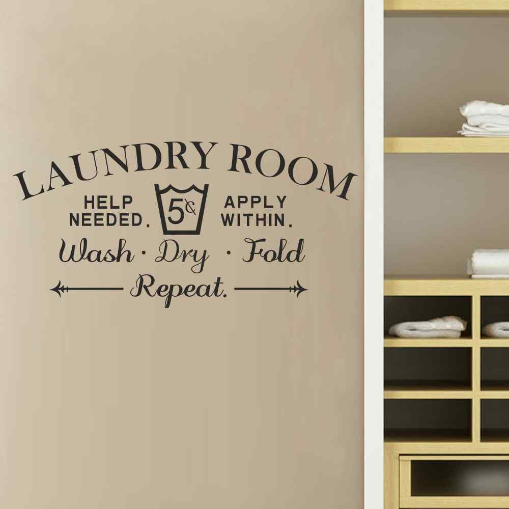 Laundry Room Vinyl Mesmerizing Laundry Room Wall Decal Wash Dry Fold Wall Stickers Laundry Room 2017