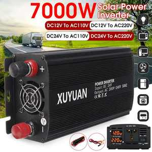 Power-Inverter Transformer Sine-Wave 110v/220-Volt Car-Adapter Charge 7000W To 12V/24V