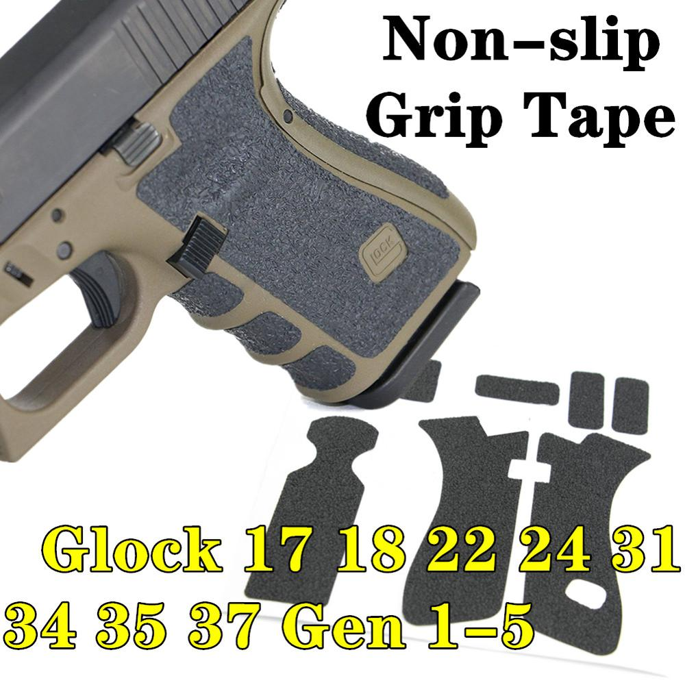 Rubber Texture Grip Wrap Tape Custom For Gen 1 2 3 4 5 Glock 17 18 24 31 34 35 37 Gun Magwell Adhesive 9mm Magazine Accessories