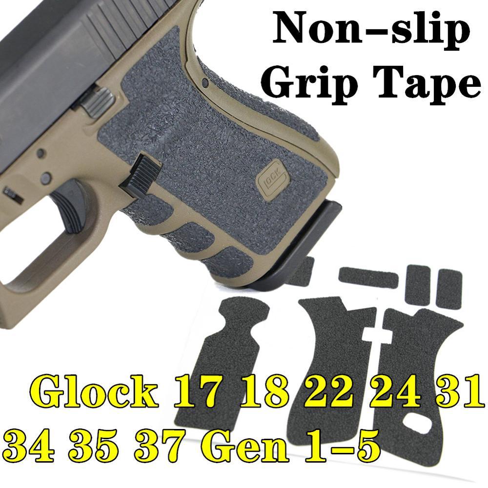 Textura de borracha Aperto Envoltório Fita Personalizada para Glock Gen 1-5 17 18 24 31 34 35 37 Pistola arma Punho Non-slip Fita Adesiva Quadro