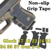 Rubber Texture Grip Wrap Tape Custom for Gen 1 2 3 4 5 Glock 17 18 24 31 34 35 37 Gun Magwell Adhesive 9mm magazine accessories