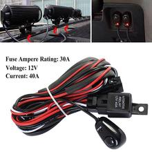 Vehicle1 Set LED Light 1 to 3 Wiring Harness Relay Fuse Kit 80A 12V for 12V Car Off-road  Wiring Harness Kit Loom  Light Bar vehicle1 set led light 1 to 3 wiring harness relay fuse kit 80a 12v for 12v car off road wiring harness kit loom light bar