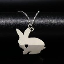 Cute Pokemon Rabbit Necklace Love Chain Maxi Bunny Necklaces Choker Jewelry For Women collier ethnique N72219B