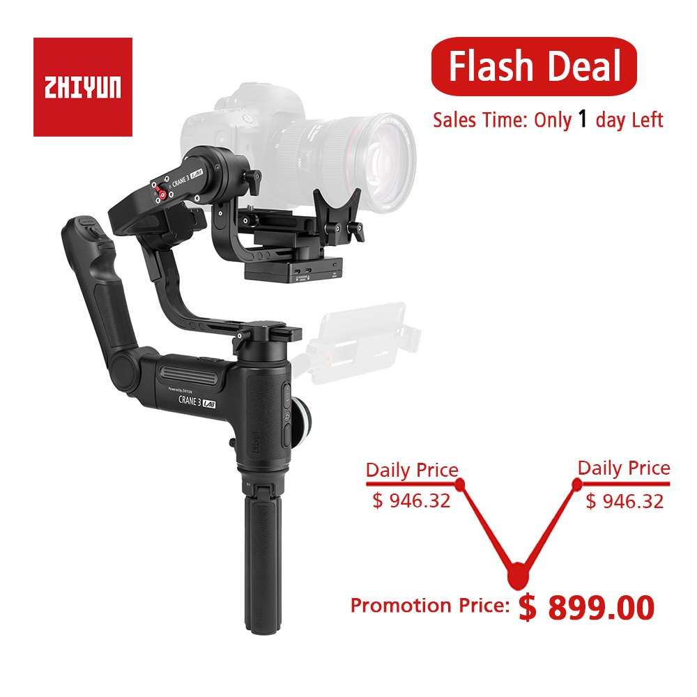 ZHIYUN Official Crane 3 LAB 3 Axis Handheld Gimbal Wireless 1080P FHD Image Transmission Camera Stabilizer for DSLR VS Crane 2-in Handheld Gimbal from Consumer Electronics