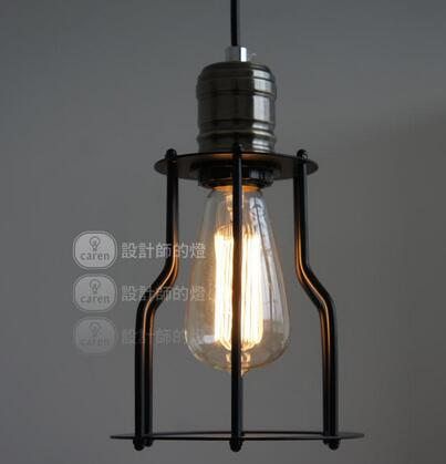 ФОТО Vintage traditional 15cm American country Loft Iron style pendant light lamp lighting fixture