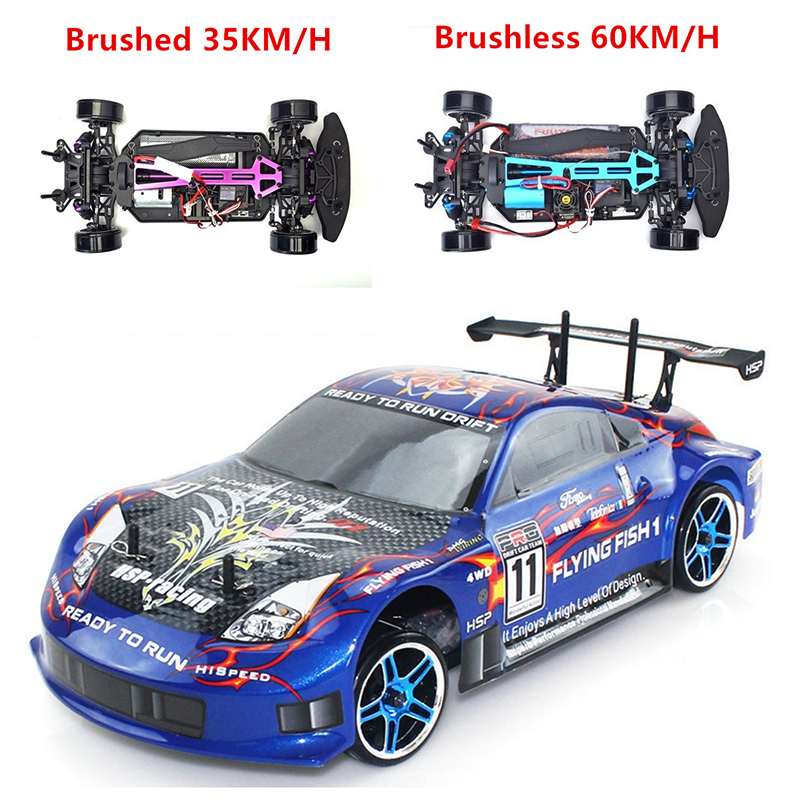 HSP 94123 RC Racing Car 1:10 Electric Power 4wd On Road Drift Brushless FlyingFish 94123Pro High Speed Hobby Remote Control Car hsp high speed 4poles 3650 brushless motor 3300kv 4300kv 2500kv 2720kv 4000kv for rc car boat 1 10 94123 rc car buggy monster