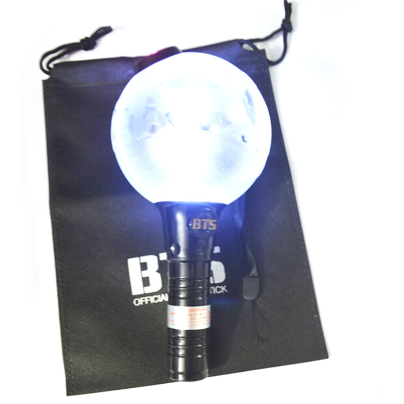 Plastic BTS light glow stick in dark light for party lights lamp gifts concert decor bangtan boys holiday battery power supplies