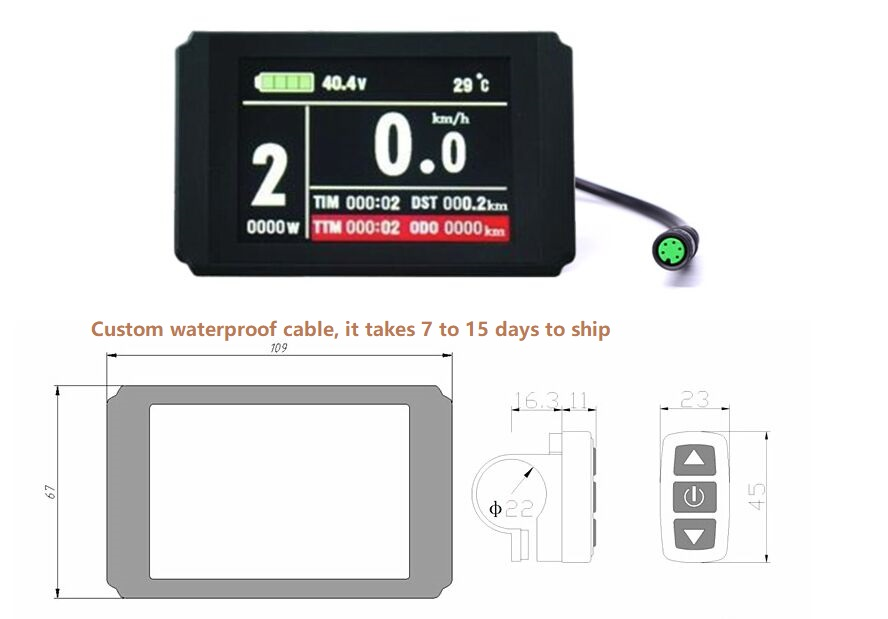 Ebike 24v 36v 48v Display Intelligent Waterppopf Plug Kt Lcd8h Control Panel Electric Bicycle Bike Parts Controller Finely Processed Accessories