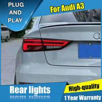 Luz trasera LED de estilo de coche para Audi A3 luces traseras 2015-2019 luz trasera DRL + señal de giro + freno + luz LED inversa
