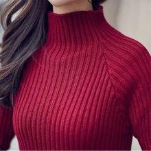 db2db47aa02571 New 2018 Women Long Length Sweaters Turtleneck Sexy Fashion Sweaters Autumn  Winter Female Soft Women s Evening