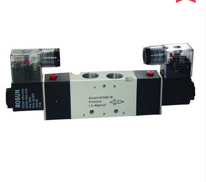 4V120-06 two five-way solenoid valve pneumatic control Voltage: 110V AC ,220V AC ,380V AC ,24V AC ,12V DC ,24V DC .