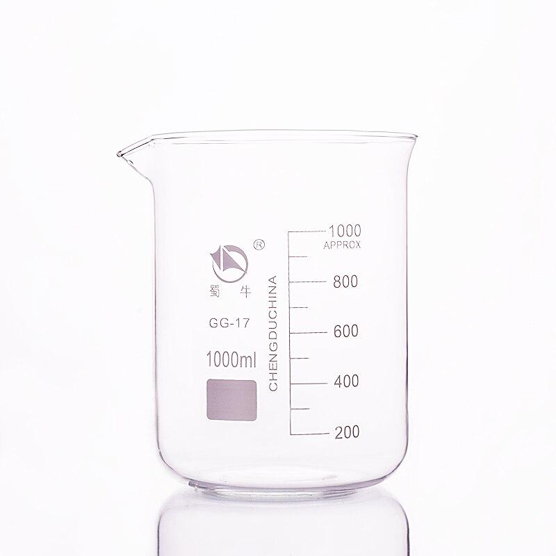 Vaso de precipitados en baja forma capacidad 1000 ml diámetro exterior = 114mm Altura = 155mm vaso de laboratorio