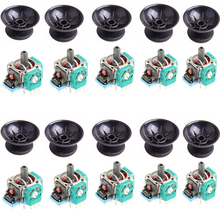 10 Sets 3D Analog Joystick Sensor Module Potentiometer with Thumb Sticks for Sony Playstation 4 PS4 Controller Repairn Parts