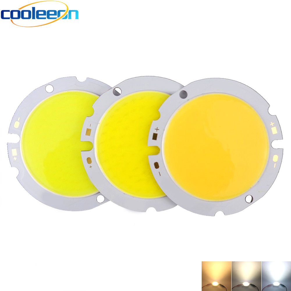 44mm Round COB LED Light Bulb 10W 15W 20W 30W Chip On Board Warm Natural Cold White 32mm Shinning Surface For LED Spotlights