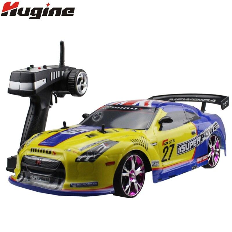 Большой RC автомобиль 1:10 высокая скорость гоночный автомобиль для Nissan GTR Чемпионат 2,4 г 4WD радио управление Спорт Drift гоночная электронная игр...