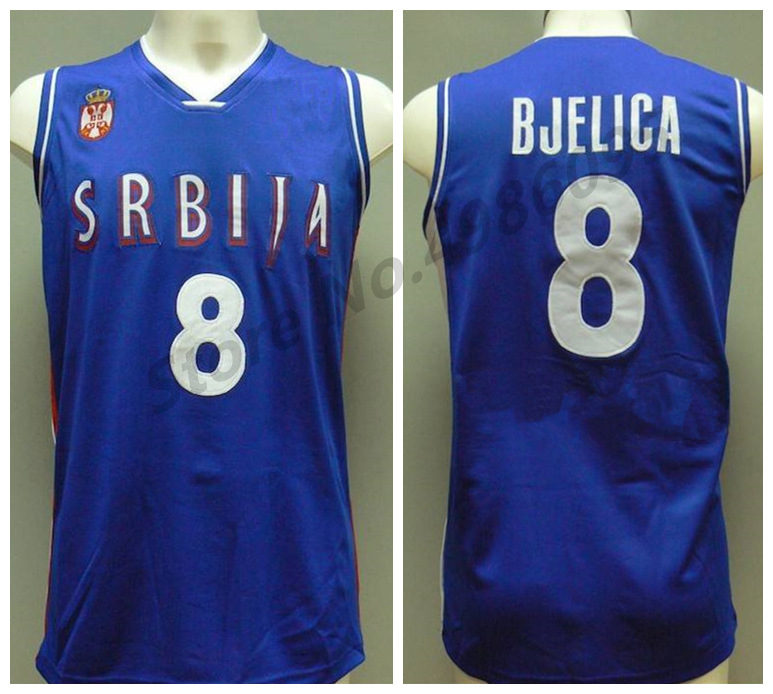 buy popular 281a3 51056 US $33.99 15% OFF|#4 Milos Teodosic #7 Bogdan Bogdanovic #8 Nemanja Bjelica  Team Serbia Srbija Serbio Basketball Jerseys Mens Custom Any Name -in ...