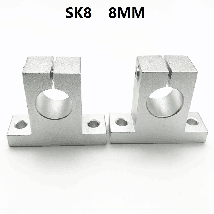 50pcs lot SK8 linear bearing rail shaft support for 8mm linear guide rail CNC router 3d