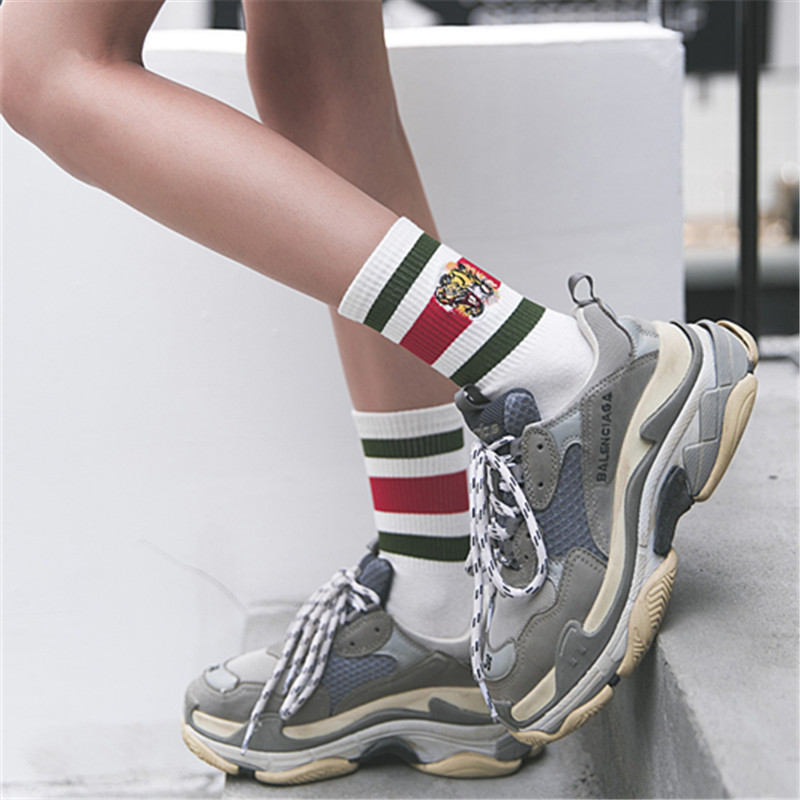 Autumn And Winter harajuku 2018 new ankle   socks   women fashion tiger calcetines mujer sokken skarpetki damskie chaussette femme