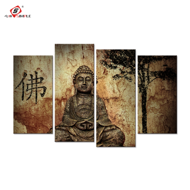 Aliexpress.com : Buy Buddha Painting Modern Buddha Wall Art Canvas ...