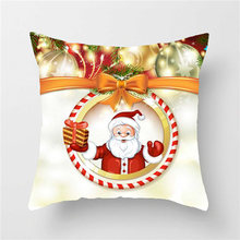 New Year Christmas Decorations For Home Snow Decor For Home Decoration Accessories  Natal Navidad Encryption Cushion Cover Claus encryption for video