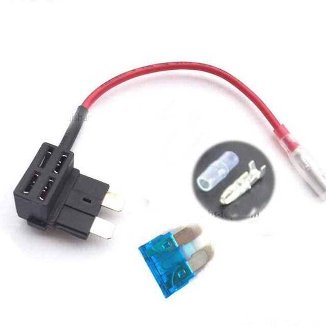 add a circuit fuse tap piggy back standard blade fuse holder ato atc 12v 24v with 5a 10a 15a 20a 25a fuse as a gift in cables adapters sockets from rh aliexpress com Automotive Fuse Box Wiring Diagram Automotive Fuse Box Wiring Diagram