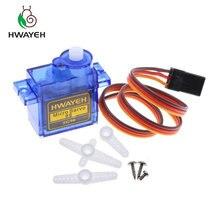 10 pièces HWAYEH Rc Mini Micro 9g 1.6 KG Servo SG90 pour arduino RC 250 450 6CH pour arduino hélicoptère avion avion voiture bateau