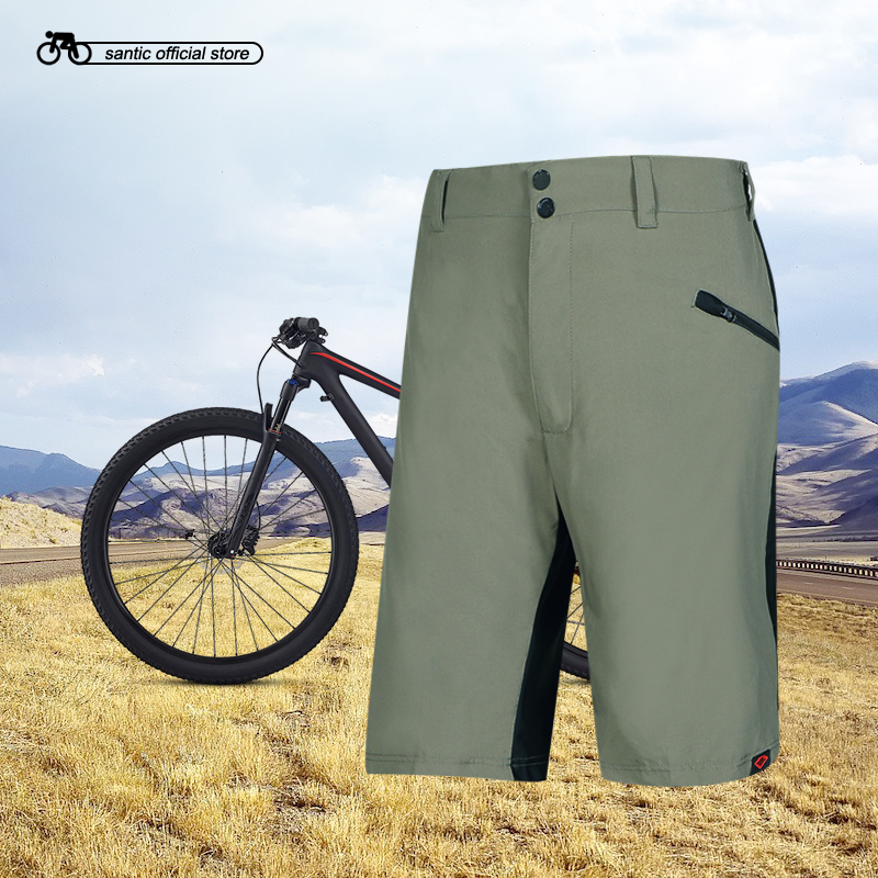 Santic Men Cycling Shorts Loose Fit Leisure Shorts Two Fabric Elastic Waist Downhill MTB Riding Shorts US SIZE M-3XL KS006 цена 2017