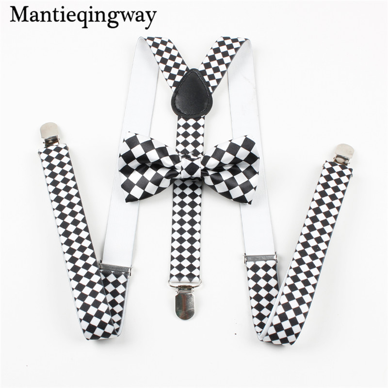 Mantieqingway High Quality Mens Suspenders Plaid Braces Belt Straps Adjustable 3 Clip-on Y-back Brace Women Wedding Suspenders