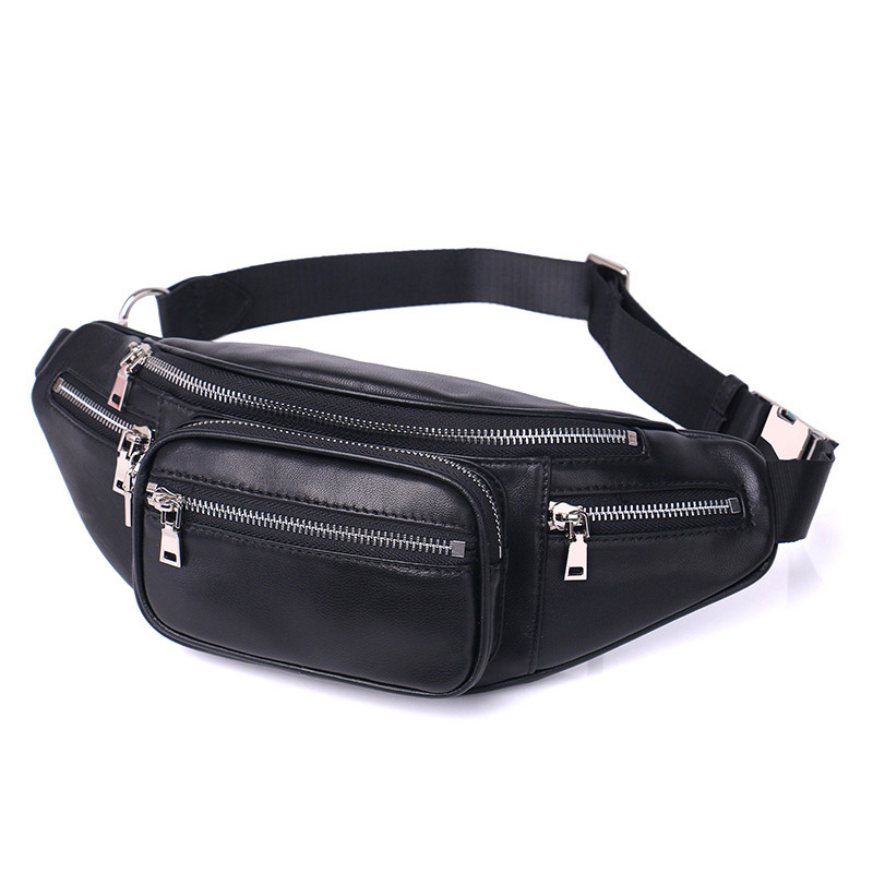 100 Genuine Leather Unisex Chest Bag Women Messenger Shoulder Bags For Youth New Fashion Waist Bag