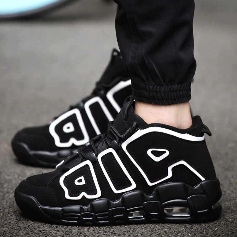 53c668cbf4d Men Air More Basketball sho Jordan shoes tenis masculino adulto Outdoor  Sport Shoes Basketball Shoes kyrie