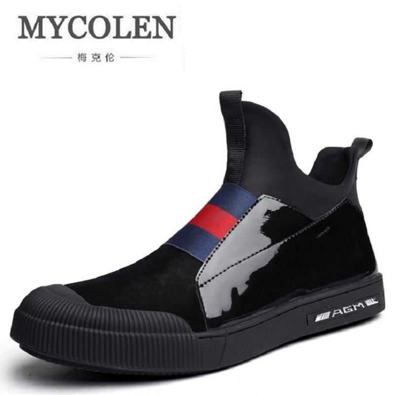MYCOLEN Men Shoes New Arrival Spring/Autumn Slip-on Casual Shoes For Men Fashion Brand Lazy Male Shoes Footwear zapatos uovo brand kids spring autumn new sport shoes for girls green color casual sneakers kids fashion canvas shoe zapatos eu 30 37