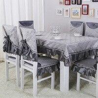 כרית כיסא לאכול כיסא כיסוי/חליפות antependium, בד שולחן רקום בדרגה גבוהה, סיטונאי כיסוי כיסא כרית כיסא