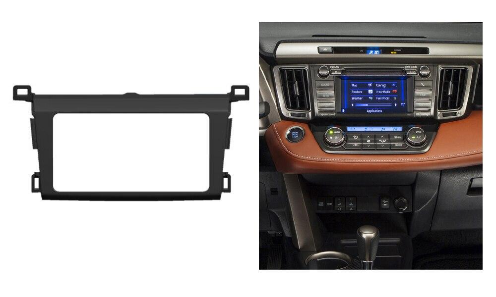 US $32 99 |Double Din Stereo Panel For Toyota RAV4 2013 2014 Fascia Radio  DVD Dash Mounting Installation Trim Kit Face Frame Bezel-in Fascias from